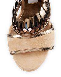 Jimmy Choo | Natural Kathleen Suede Ankle-wrap Sandal | Lyst