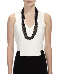 Eskandar - Black Multi-strand Beaded Acai Necklace - Lyst