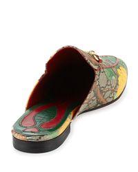 Gucci - Multicolor Princetown Gg Canvas Horsebit Mule Slipper Flat - Lyst
