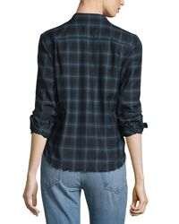 Helmut Lang - Gray Shrunken Plaid Pullover Shirt - Lyst