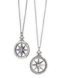 "Monica Rich Kosann - Metallic Travel"" Global Compass Charm Necklace"" - Lyst"