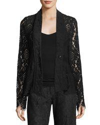 Nanette Lepore - Black Genevieve One-button Lace Jacket - Lyst