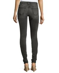 Brockenbow - Gray Plaza Emma Chain Embroidered Skinny Denim Jeans - Lyst