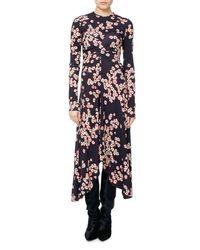Isabel Marant - Purple Diana Cherry Blossom Jersey Midi Dress - Lyst
