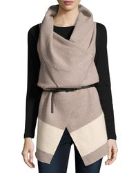 Joie - Multicolor Ligere Colorblock Belted Wool Vest - Lyst