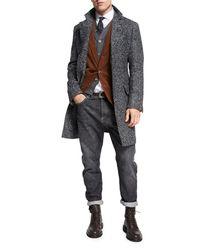 Brunello Cucinelli - Gray Selvedge Denim Leisure-fit Jeans for Men - Lyst