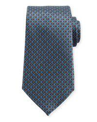 Ermenegildo Zegna - Gray 3d Micro-diamond Neat Tie for Men - Lyst