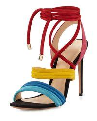 Alexandre Birman - Multicolor Aurora Strappy Suede Sandal - Lyst