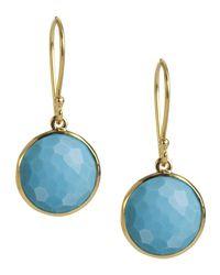Ippolita - Blue Mini Lollipop Earrings In Turquoise - Lyst