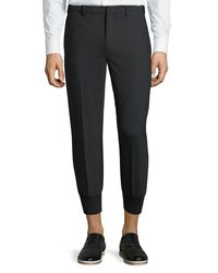 Neil Barrett - Black Trouser Jogger Pants for Men - Lyst
