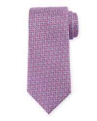 Ermenegildo Zegna - Purple Chevron-print Silk Tie for Men - Lyst