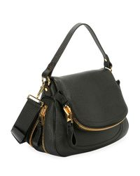 Tom Ford - Black Jennifer Large Grained Leather Saddle Bag - Lyst