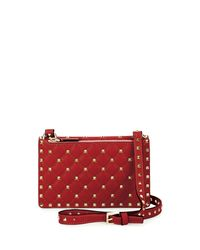 Valentino | Red Rockstud Quilted Leather Crossbody Bag | Lyst