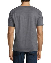 Z Zegna - Gray Techmerino Jersey Short-sleeve T-shirt for Men - Lyst