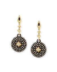 Armenta - Multicolor Old World Midnight Small Shield Earrings With Champagne Diamonds - Lyst