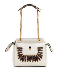 Fendi | White Dotcom Ribbon-laced Shoulder Bag | Lyst