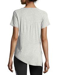 PUMA - Gray Evolution Side-knot Athletic Tee - Lyst
