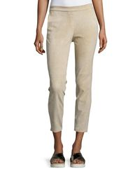 Theory - Natural Thaniel Stretch-Linen Cropped Pants - Lyst