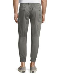 Belstaff - Gray Twill Cargo Jogger Pants for Men - Lyst