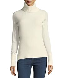 Veronica Beard - White Asa Long-sleeve Turtleneck Cashmere Sweater - Lyst