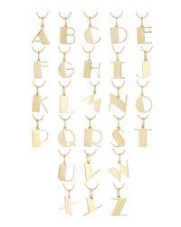 Sydney Evan - Metallic Pure Initial Charm Necklace - Lyst