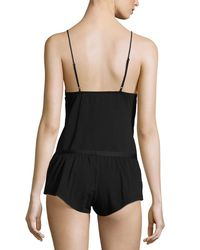Cosabella | Black Bisou Lace-up Lounge Camisole | Lyst