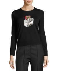 Marc Jacobs | Black Heart Toaster Appliqué Crewneck Sweater | Lyst