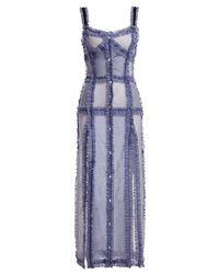 Attico | Blue Patchwork Camisole Maxi Dress | Lyst