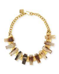 Ashley Pittman - Metallic Jumbe Light Horn & Bronze Collar Necklace - Lyst