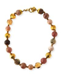 Ashley Pittman - Multicolor Kamili Mixed Horn Beaded Necklace - Lyst