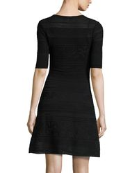 M Missoni - Black Short-sleeve Mix-stitched A-line Dress - Lyst