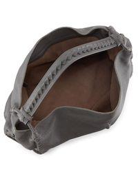 Bottega Veneta - Gray Cervo Large Shoulder Bag - Lyst