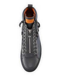 Bally - Black Men's Hekem Patchwork High-top Sneakers for Men - Lyst