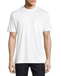 Ermenegildo Zegna | White Cotton Pocket T-shirt for Men | Lyst