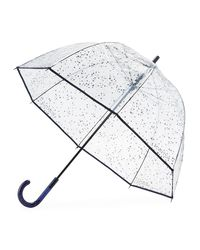 Hunter - Pink Transparent Moustache Bubble Umbrella - Lyst