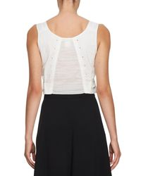 Chloé - White Sleeveless Cotton Crop Top - Lyst