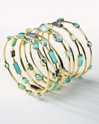 Ippolita | Multicolor 18k Rock Candy® 9-station Bangle In Waterfall | Lyst