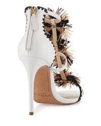 Alexandre Birman | Multicolor Dea Raffia-trim Leather Sandal | Lyst