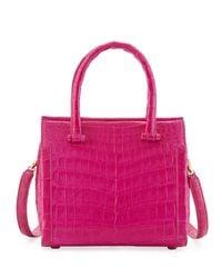 Nancy Gonzalez - Pink Small Double-handle Crocodile Handbag - Lyst