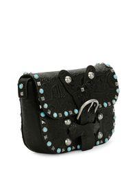 Valentino - Black Rockstud Rolling Butterfly Embossed Shoulder Bag - Lyst