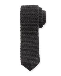 Ermenegildo Zegna - Gray Reversible Cashmere Knit Scarf for Men - Lyst
