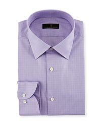 Ike Behar - Purple Gold Label Micro-glen Plaid Dress Shirt for Men - Lyst
