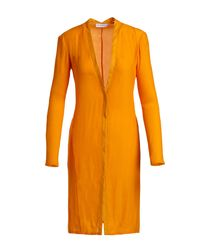 Narciso Rodriguez | Yellow V-neck Boyfriend Cardigan Dress | Lyst