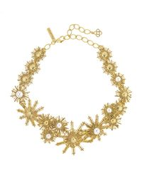 Oscar de la Renta | White Pearly Sun Star Necklace | Lyst