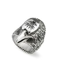 Gucci - Metallic Men's Eagle Head Sterling Silver Ring - Lyst