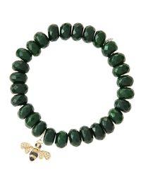 Sydney Evan - Green Design Your Own Bracelet (made To Order) - Lyst