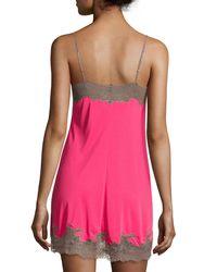 Natori - Pink Enchant Lace-trimmed Chemise - Lyst
