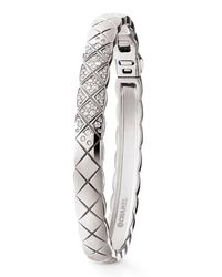 Chanel - Metallic Coco Crush Bracelet In 18k White Gold And Diamonds - Lyst