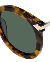 Karen Walker - Brown Super Lunar Round Monochromatic Sunglasses - Lyst