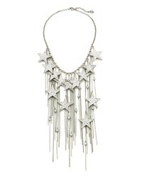 Ben-Amun | Metallic Rock Star Crystal Chain Fringe Necklace | Lyst